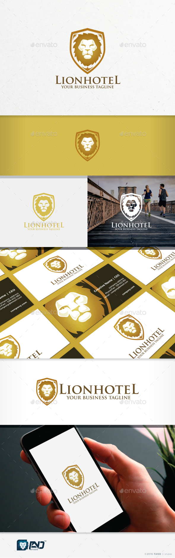 Lion Hotel - Crests Logo Templates