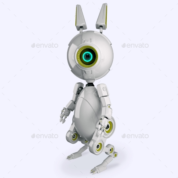 Robotic Rabbit - Characters 3D Renders