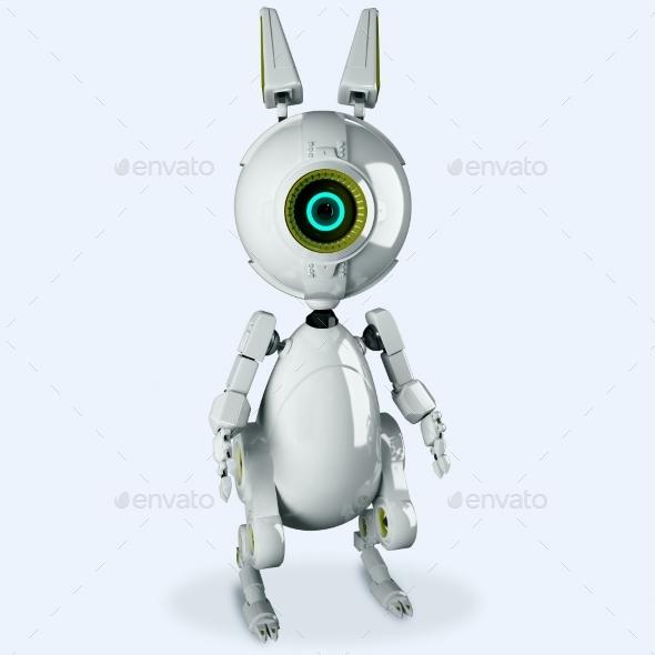 Robotic Rabbit - Characters 3D Renders