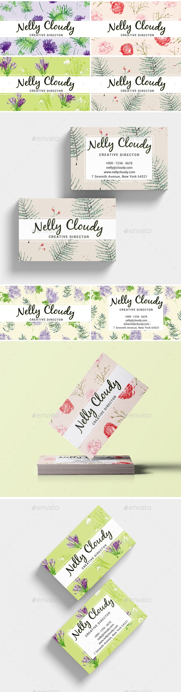 Watercolor Creative Business Card - Retro/Vintage Business Cards