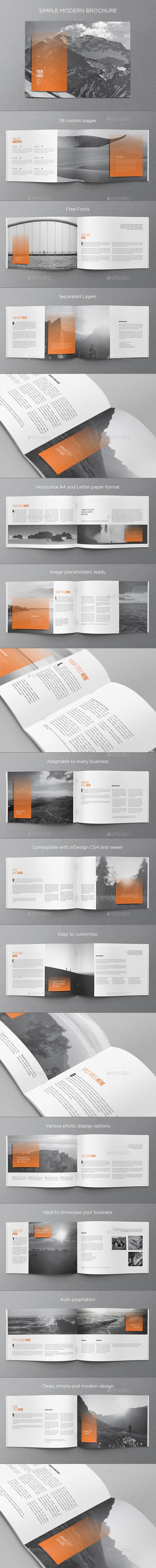 Simple Modern Brochure - Brochures Print Templates