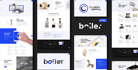 Boiler – Creative Agency HTML5 & CSS3 Template
