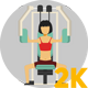 Woman Doing Gym And Fitness Exercises - VideoHive Item for Sale