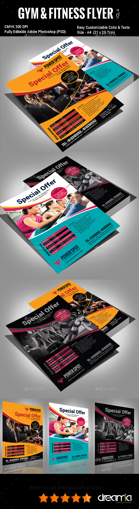 Gym & Fitness Flyer - Vol3 - Sports Events