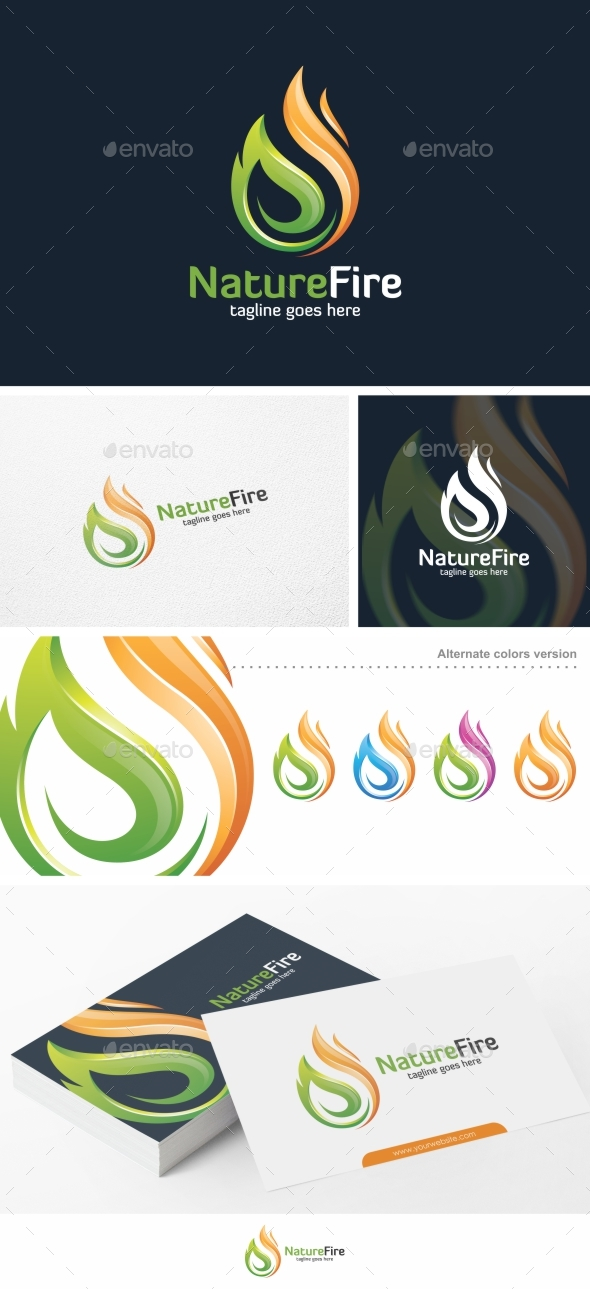 Nature Fire - Logo Template - Nature Logo Templates