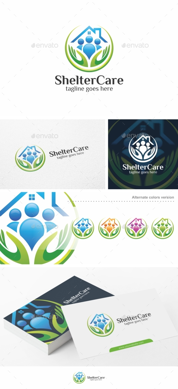 Shelter Care - Logo Template - Humans Logo Templates