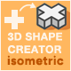 3D Isometric Shape Creator - GraphicRiver Item for Sale