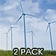 Wind Turbines Clean Energy Of Future - 2 Pack - VideoHive Item for Sale