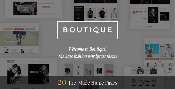 Boutique - Kute Responsive WooCommerce WordPress Theme - WooCommerce eCommerce