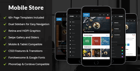 Store Mobile | Mobile Template