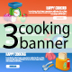 3 Cooking Banners - GraphicRiver Item for Sale