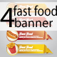 4 Fast Food Origami Banners - GraphicRiver Item for Sale