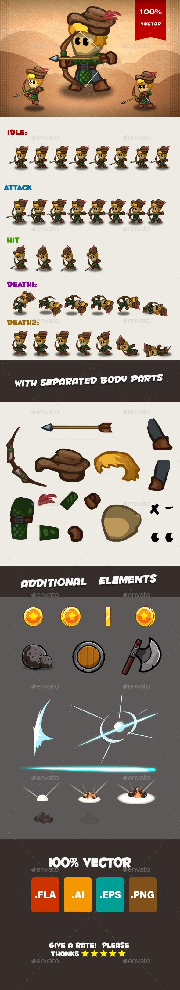 Archer Spritesheet 02 - Sprites Game Assets