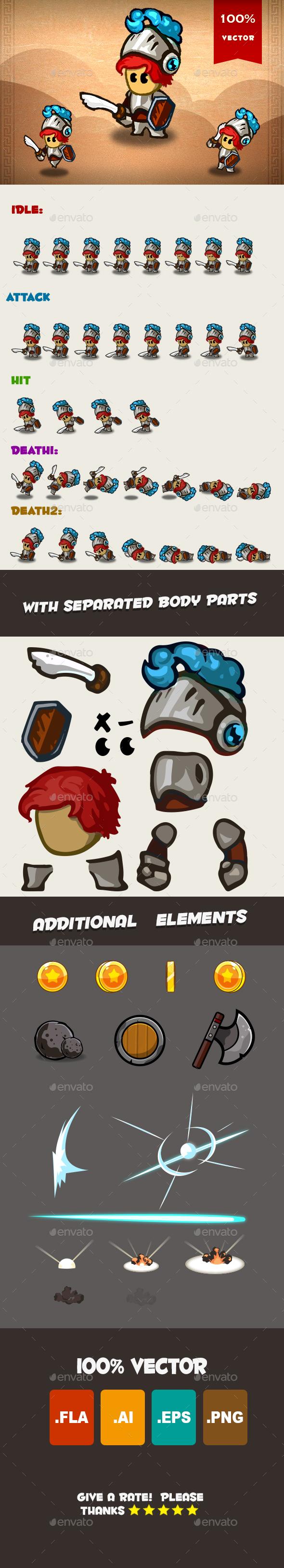 Knight Spritesheet 03 - Sprites Game Assets