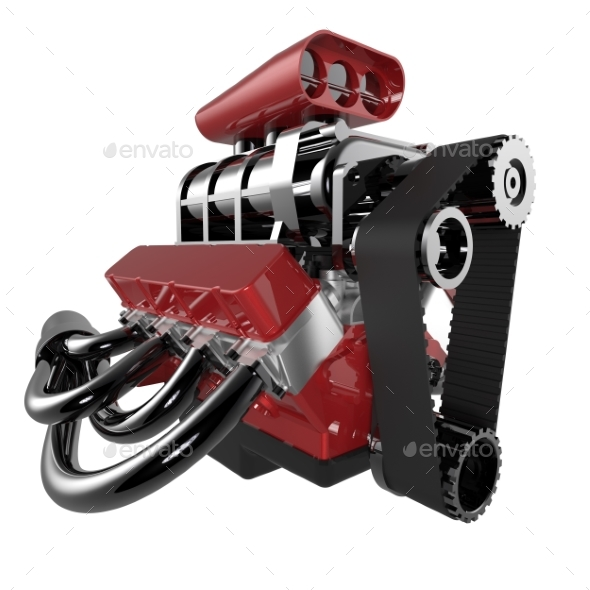 Hot Rod V8 Engine - Objects 3D Renders
