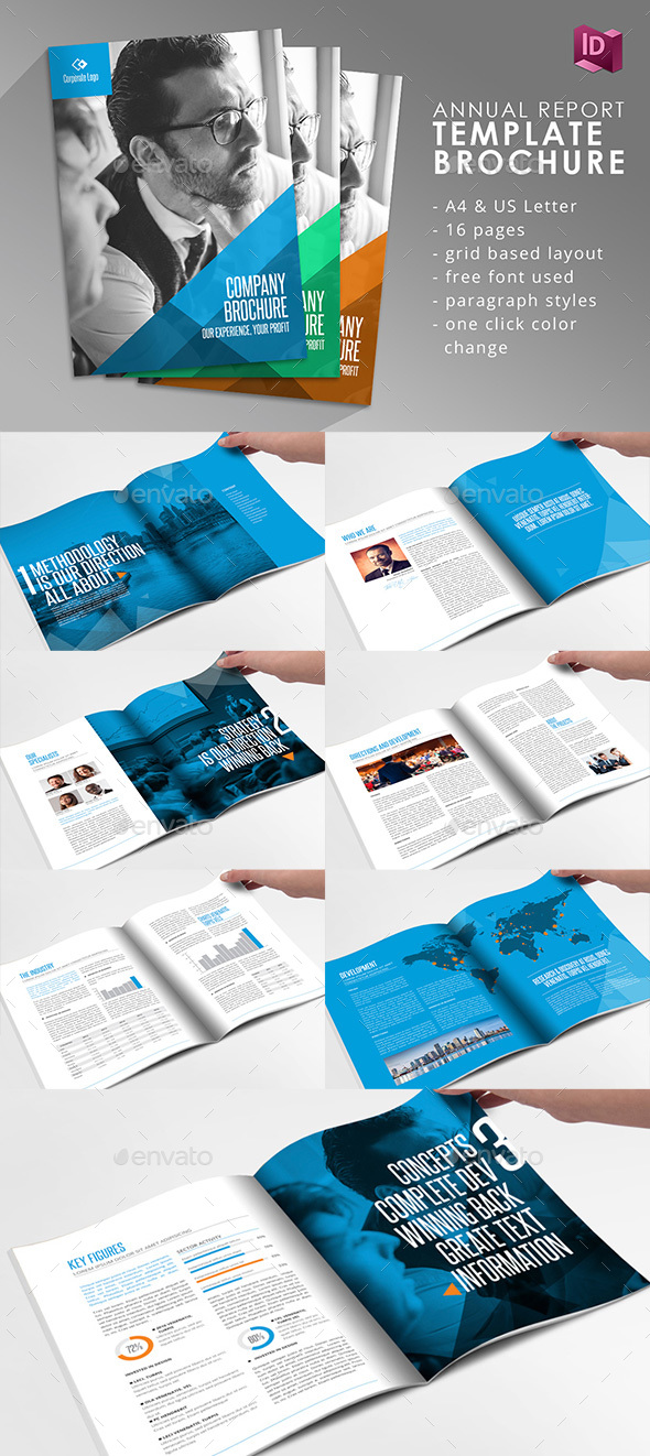 Company Brochure Adobe Indesign Template By Braxas GraphicRiver - Indesign template brochure