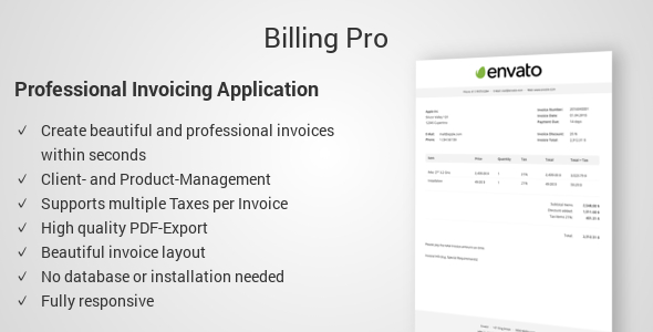 Billing Pro - Professional Invoicing Application - CodeCanyon Item for Sale