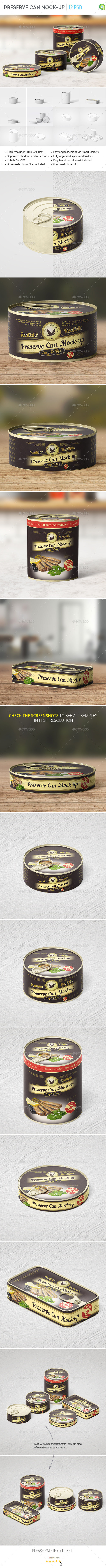 Preserve Can Mock-Up - Food and Drink Packaging