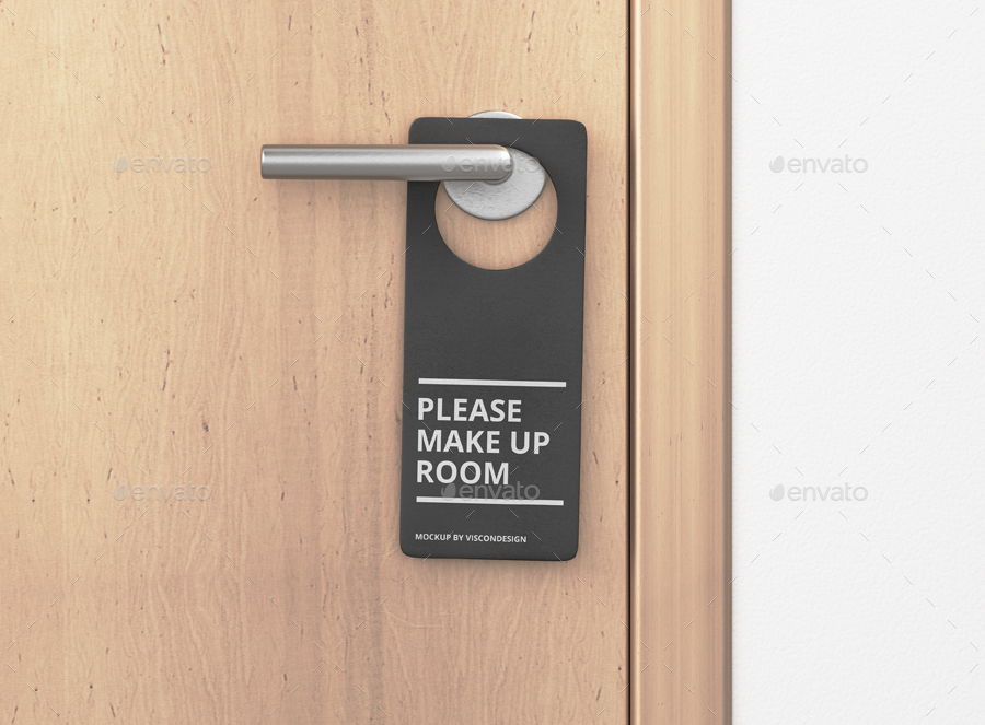 Door Hanger Mock Up By Visconbiz Graphicriver