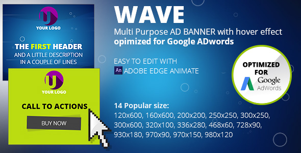 HTML5 Animated Banner Templates | «WAVE banner» - CodeCanyon Item for Sale