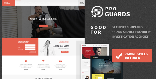 ProGuards - Safety & Security WordPress Theme