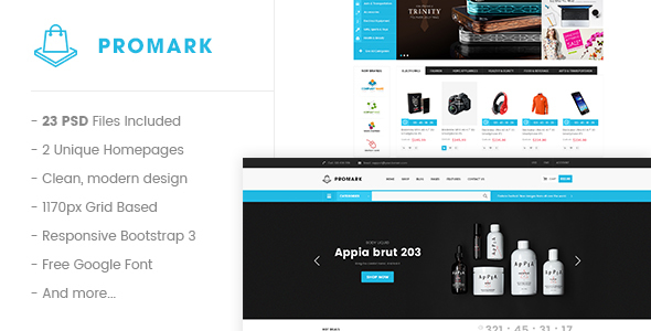 Promark - Multi-Purpose eCommerce PSD Template - Retail PSD Templates