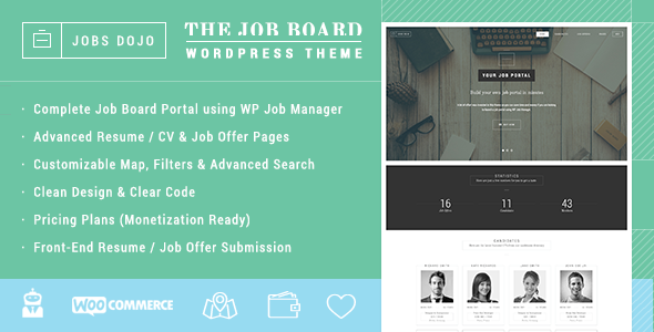 WPJobus - Job Board and Resumes WordPress Theme Download