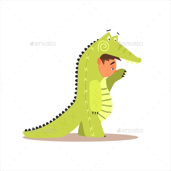 Boy Desguised as Crocodile - Animals Characters
