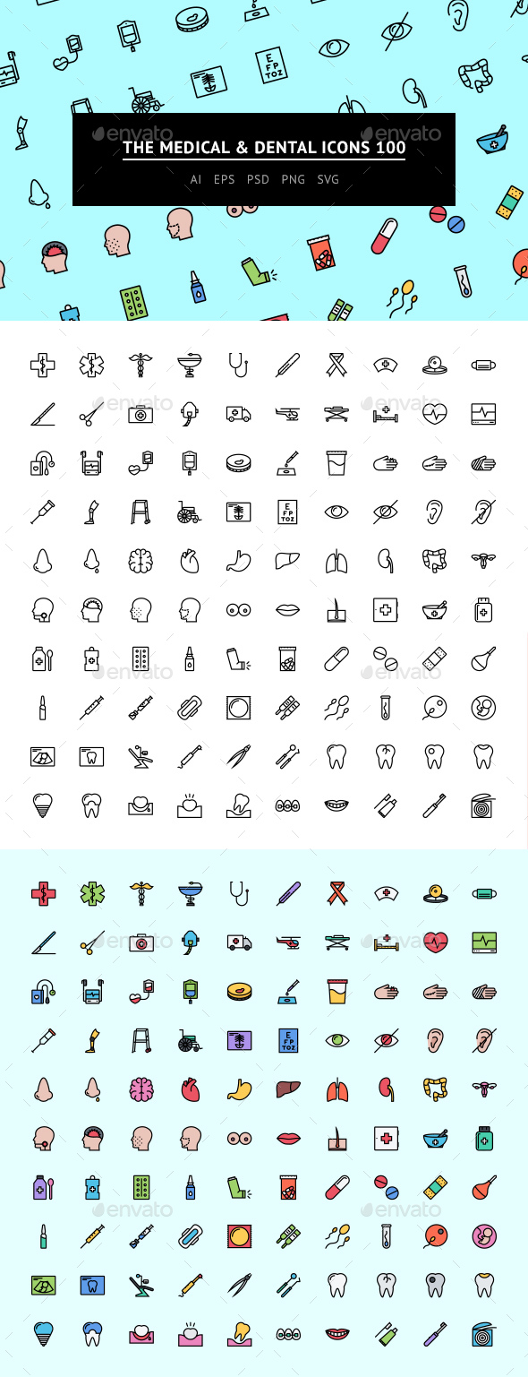 The Medical & Dental Icons 100 - Web Icons