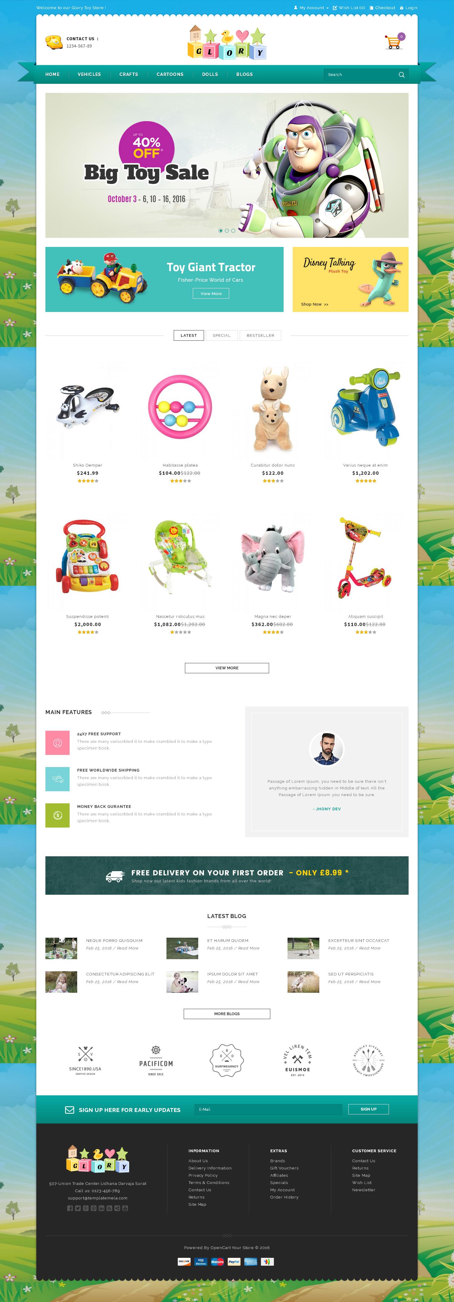 Glory Shop - Multipurpose OpenCart Theme