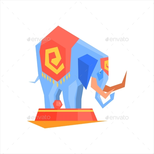 Circus Trained Elephant - Animals Characters