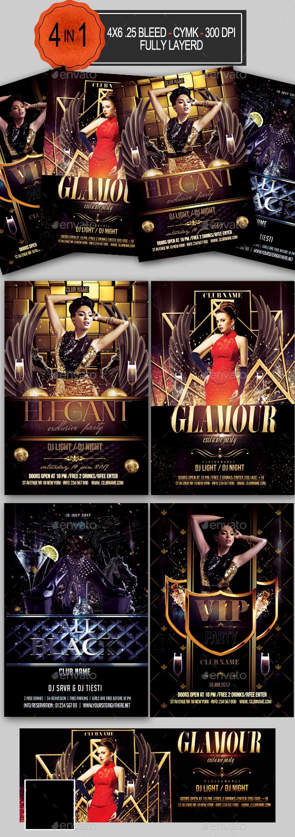 Elegant Flyer Bundle - Clubs & Parties Events