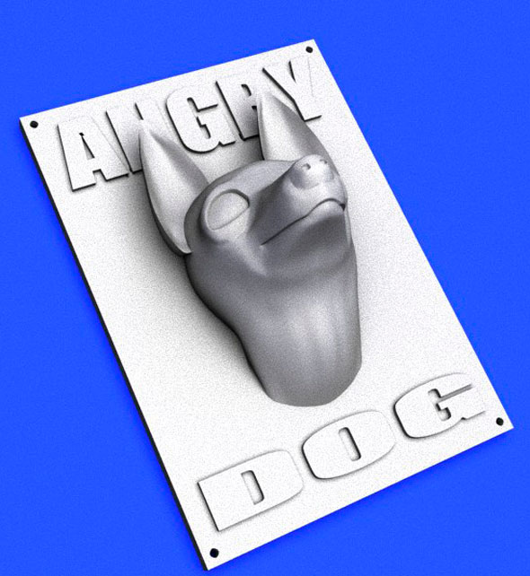 Angry Dog Sign printable - 3DOcean Item for Sale