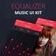 Equalizer – Music App UI Kit PSD - GraphicRiver Item for Sale