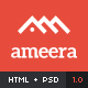 Ameera HTML - Clean and Minimal Blogging Template - ThemeForest Item for Sale