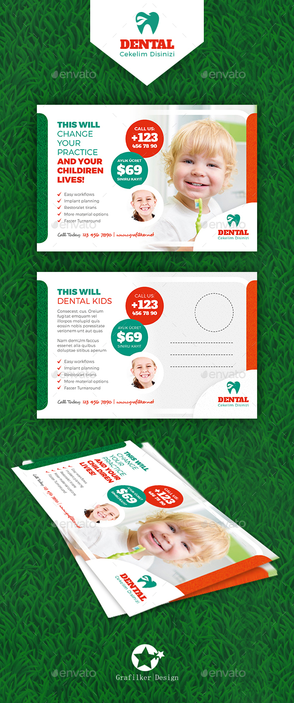 Kids Dental Postcard Templates - Cards & Invites Print Templates