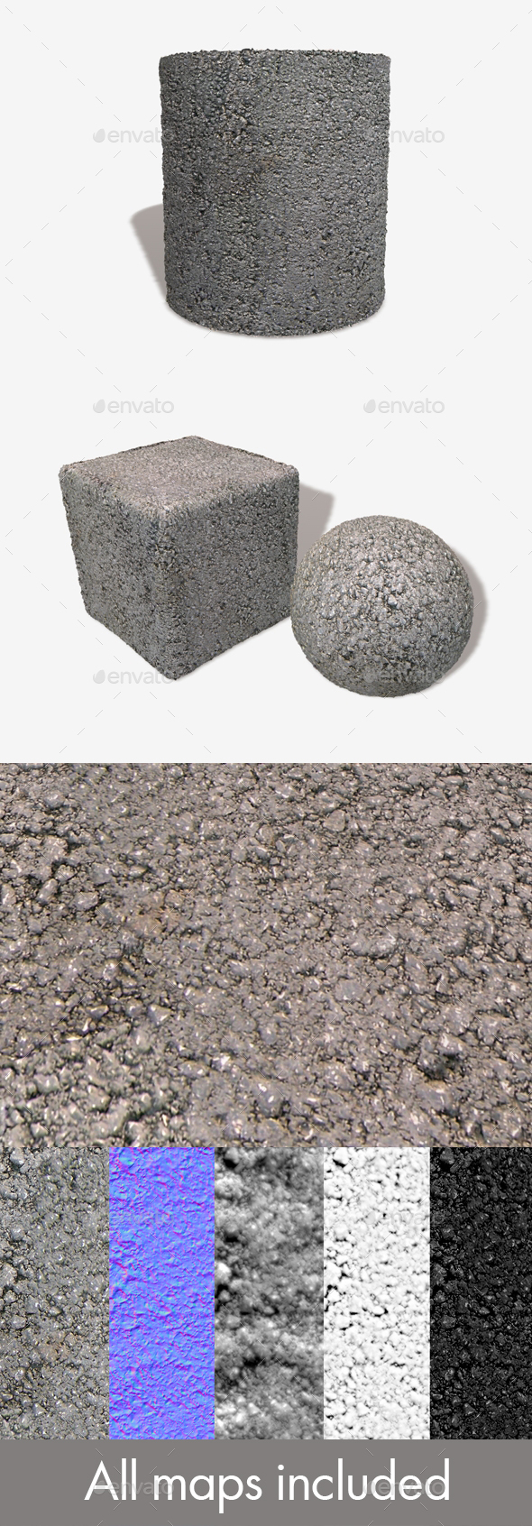 Cement Seamless Texture - 3DOcean Item for Sale
