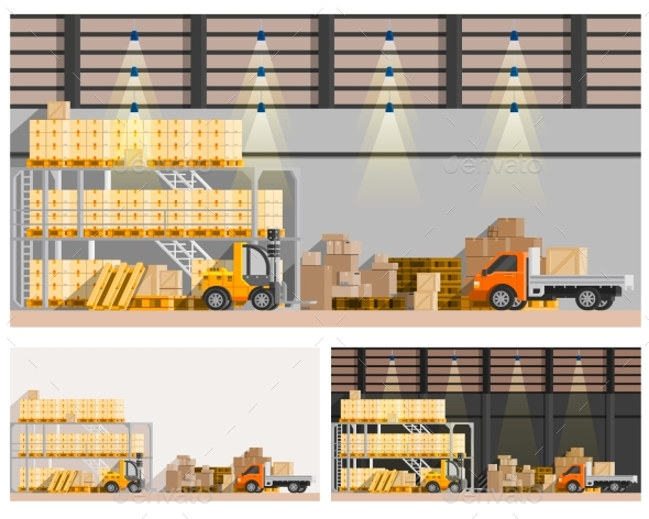Warehouse Compositions Set  - Industries Business