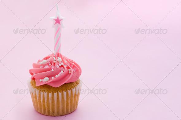 Birthday cupcake - Stock Photo - Images