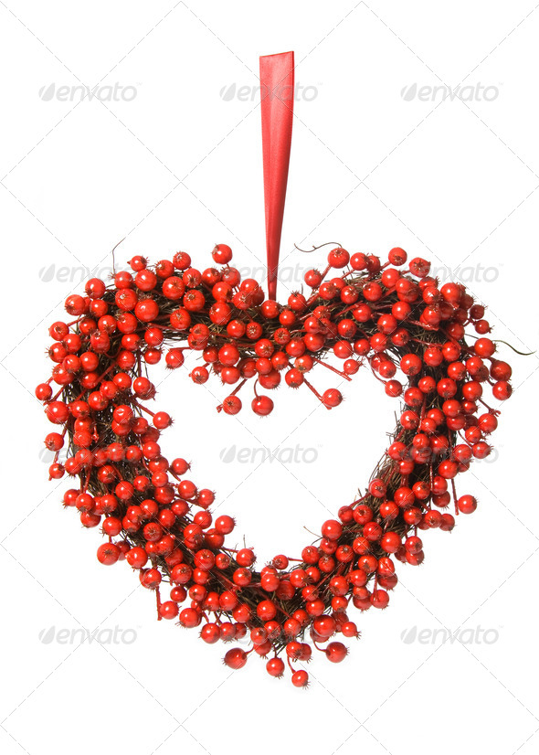 Red berry wreath - Stock Photo - Images