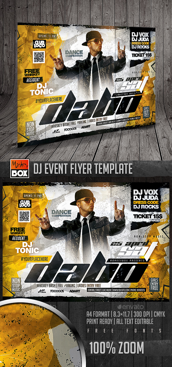 Dj Event Flyer Template - Flyers Print Templates