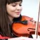 Beautiful Girl Playing Violin - VideoHive Item for Sale