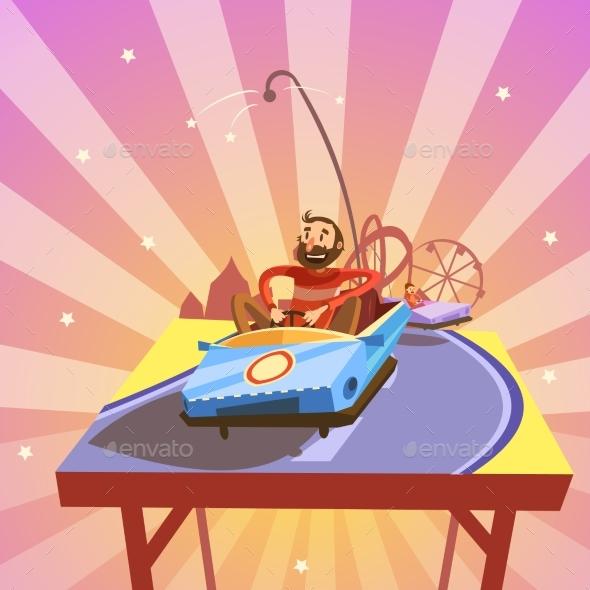Amusement Park Cartoon - Decorative Symbols Decorative