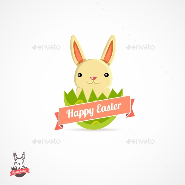 Easter Logo Illustration - Religion Conceptual