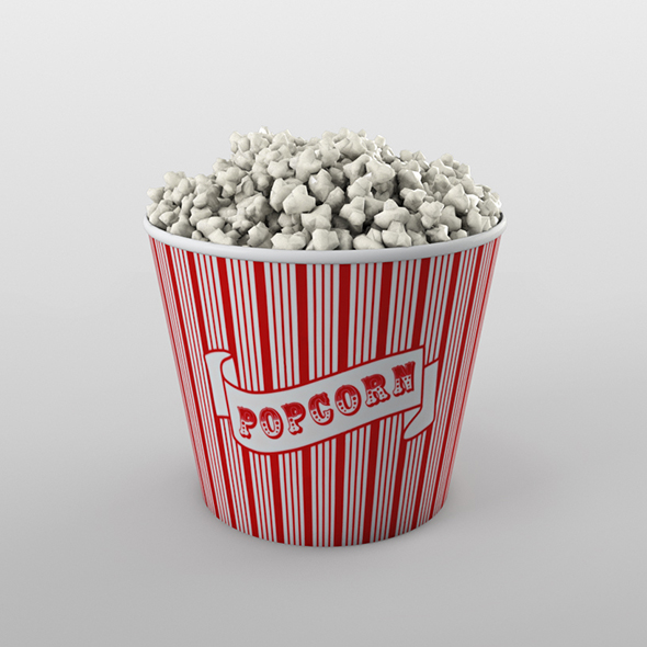 Popcorn bucket - 3DOcean Item for Sale