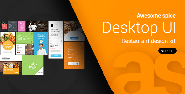 Awesome spice | Desktop UI kit Sketch App - Sketch Templates