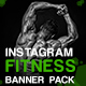 Fitness Banner Pack for Instagram - GraphicRiver Item for Sale