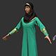 3D female Arabic Costume - 3DOcean Item for Sale