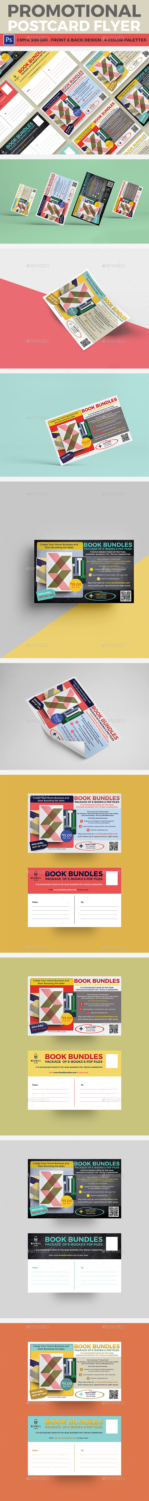 Promotional Postcard Flyer - Flyers Print Templates