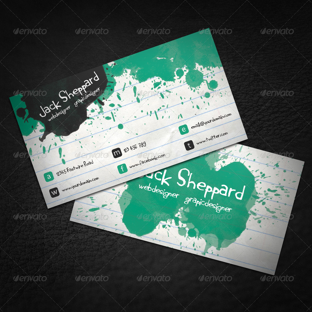Paint Notepad Business Card by Dutchflow | GraphicRiver